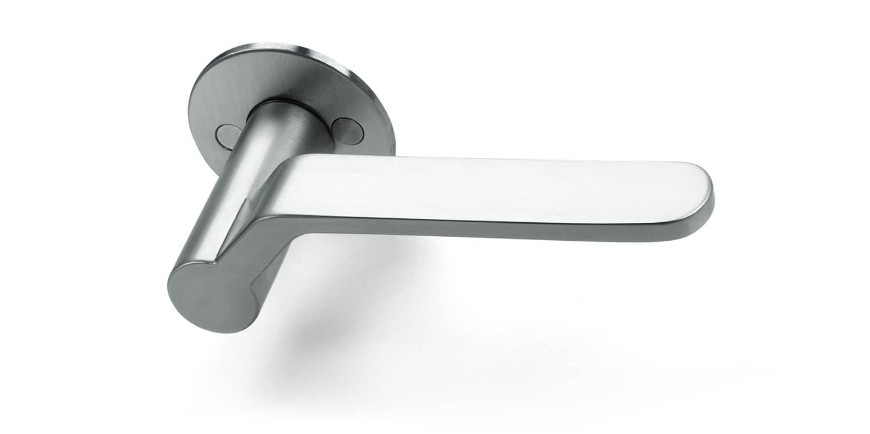 Henning Larsen dørgreb - Børstet stål