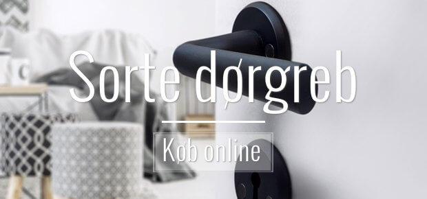 Sorte dørgreb - frække og moderne