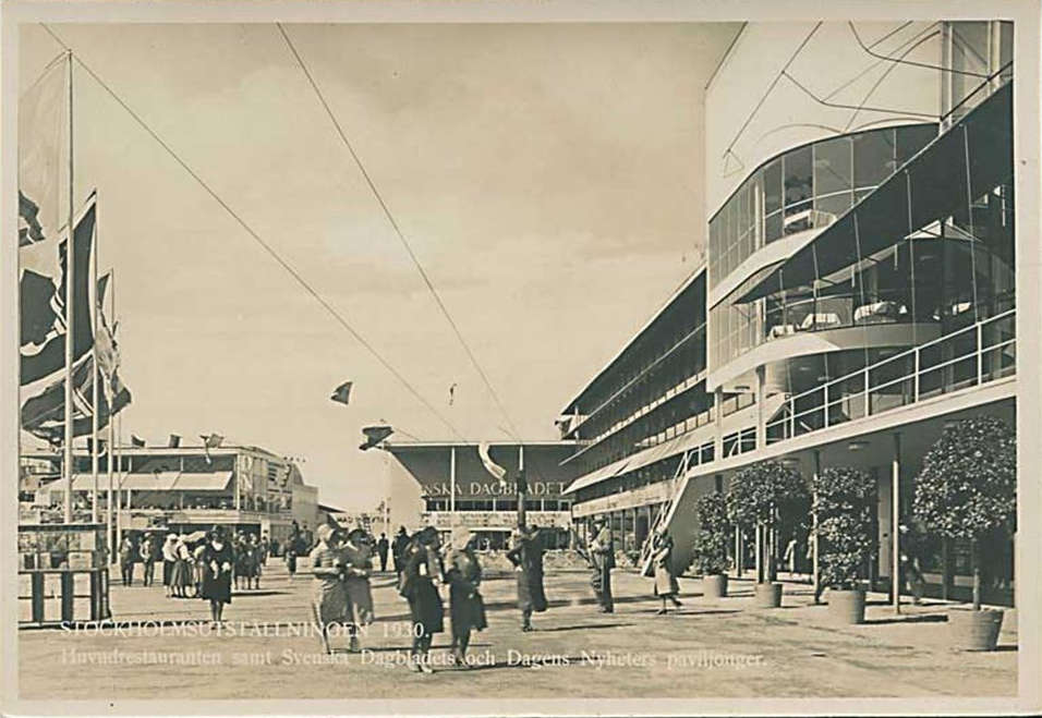 Stockholm's exhibition in 1930, where Funkis style was presented