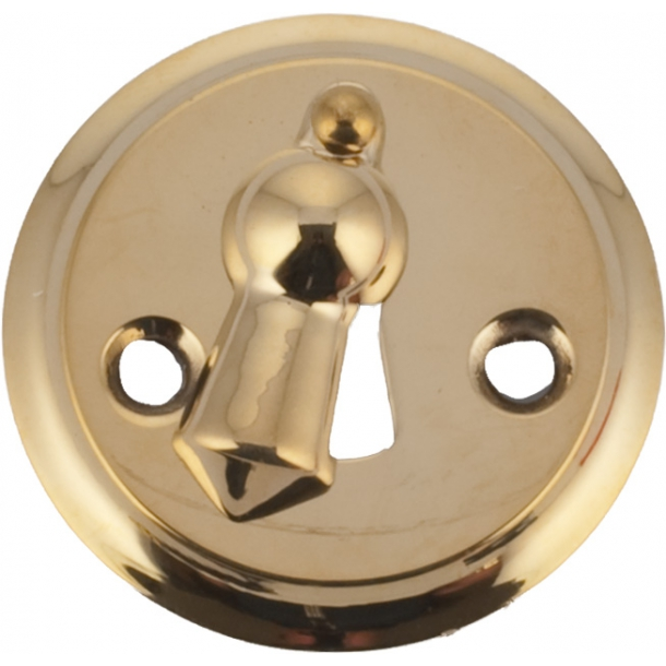 Escutcheon with cover 1681, Polished brass