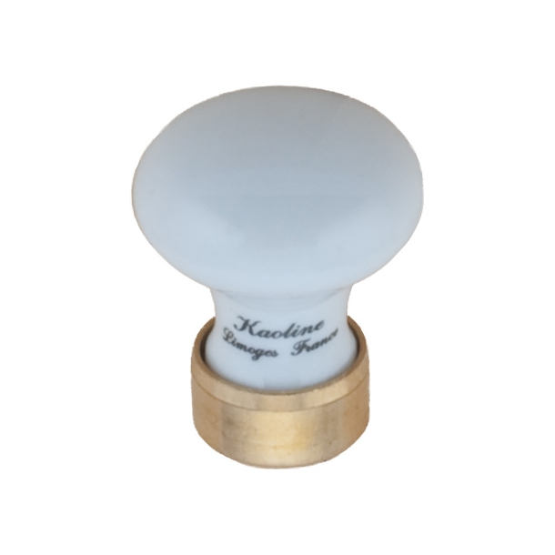 Furniture knob 125 Porcelain Brass 25 mm
