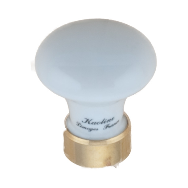 Furniture knob 130 Porcelain Brass 30 mm