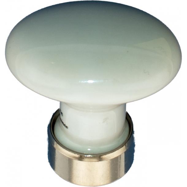 Möbelknopf Oval - Porzellan Chrom 25x35 mm