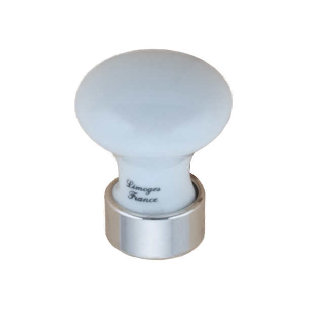 Furniture Button 125 - Porcelain Chrome 25 mm
