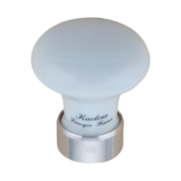 Furniture Button 130 - Porcelain Chrome 30 mm