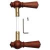 Door handle wood - 670 - rosewood