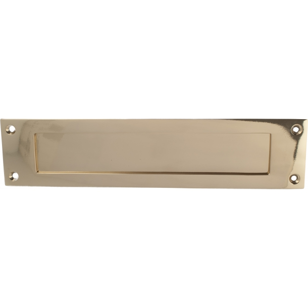 Letter plate - Polished Brass 300 x 70 mm - Model 266
