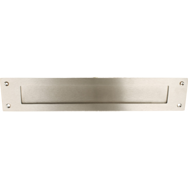 Letter plate - nickel satin 380 x 75 mm - Model 266