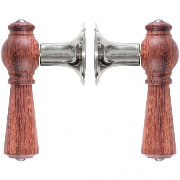 Wooden Door handle interior - Chrome and rosewood (670-pal-CR)