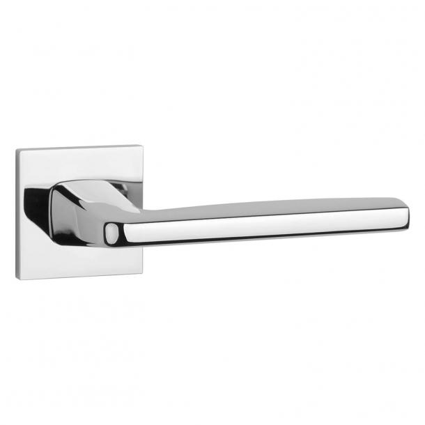 Aprile Door handle - Polished chrome - Model Erba Q