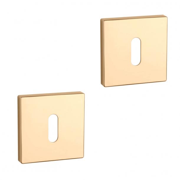 Aprile Schlüsselschild - Gold - Modell APRILE Q SLIM - 7 MM