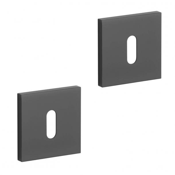 Aprile Key Escutcheon - Black - Model APRILE Q SLIM - 7 MM