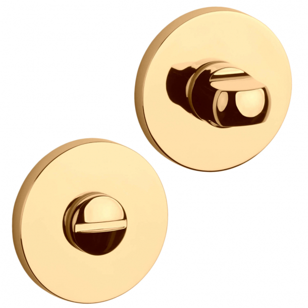 Aprile Privacy lock - Gold - model APRILE R SLIM WC - 7mm