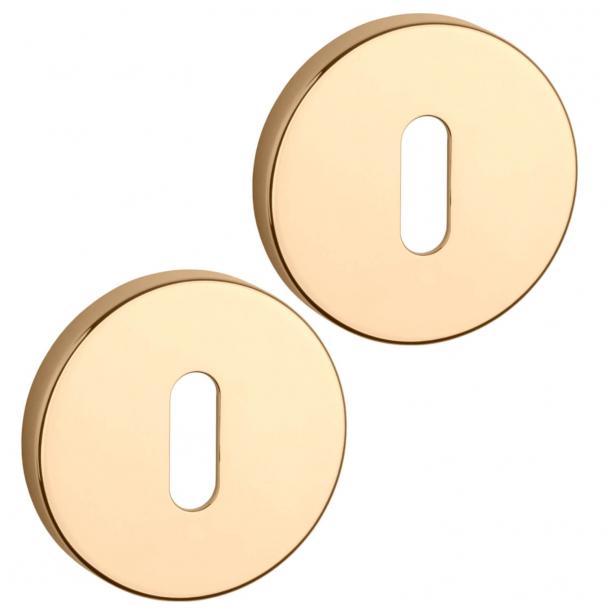 Aprile Key Escutcheon - Gold - model APRILE R SLIM 7 MM
