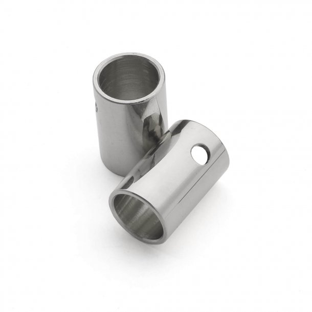 Klamka niklowana - HORNBÆK - Roset z ukrytymi śrubami cc30 / 38mm