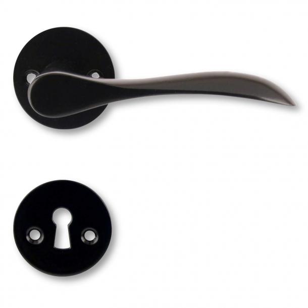 Door handle interior - Black lacquer (200164) - BELLEVUE