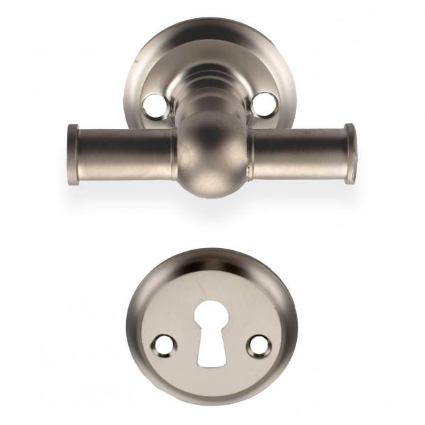 Door handle interior - Matte nickel rosette and escutcheon (200024)