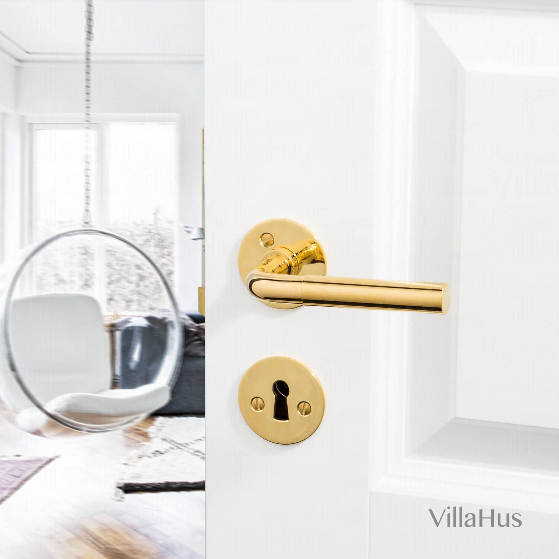 FUNKIS door handle interior - Brass Door handle - 16mm - Funkis Door Handles - VillaHus.co.uk