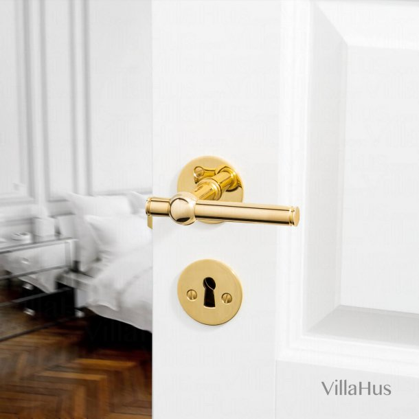 Door handle - Brass without lacquer - SKODSBORG 8014 - 14 mm
