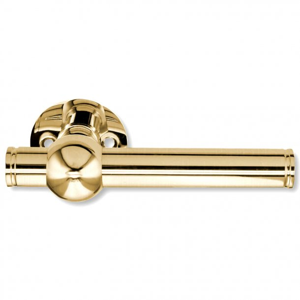 Door handle brass without lacquer - SKODSBORG 18 mm