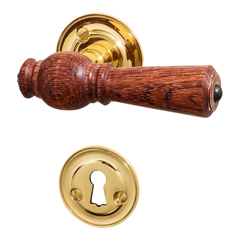 Interior Wooden Door Handle Brass Amp Rosewood Rose Smooth Neck Wooden Door