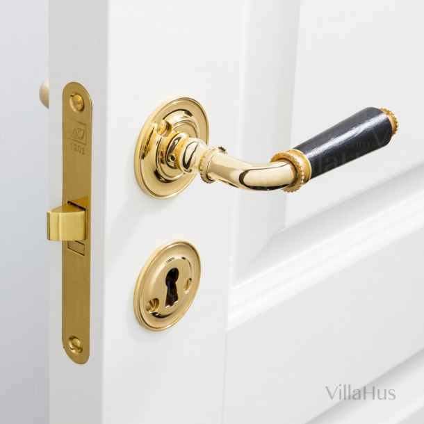 Door handle interior - Humleb¾k - Polished Brass
