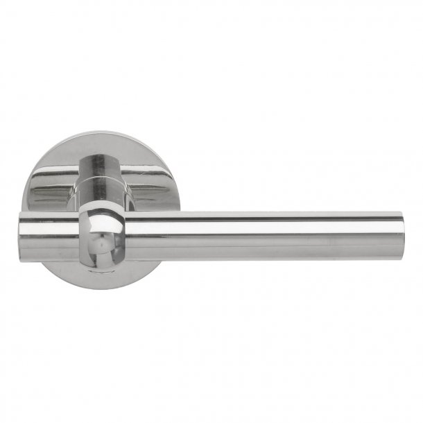 Door handle Nickel Plated - MIKKELBORG - Rosette with concealed screws cc30 / 38mm