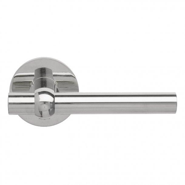 Door handle Nickel Plated - MIKKELBORG - Rosette with concealed screws cc30 / 38mm