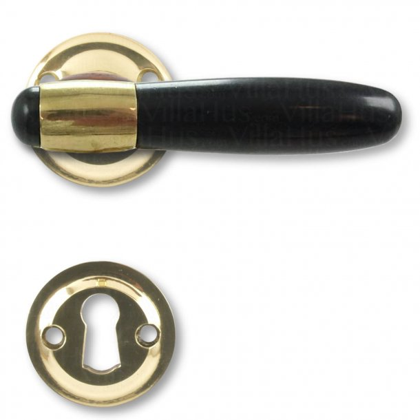 Door handle interior - Brass / Bakelite / Polished Brass - Model NYHAVN