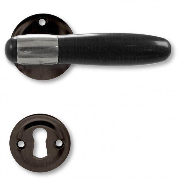 Door handle interior - Nickel Plated / Bakelite / Black Brass - Model NYHAVN