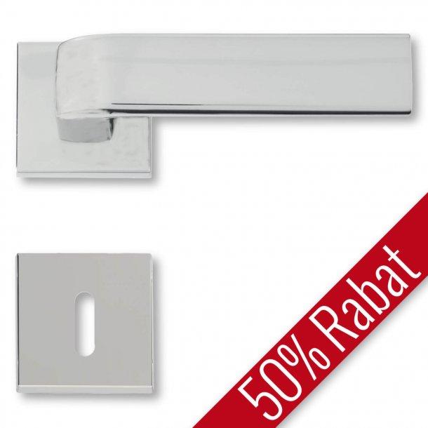 Türgriffe - Interieur, Seidenmatt verchrom - Rosette und Schlüsselschild - DOROTEA - Sonderangebot