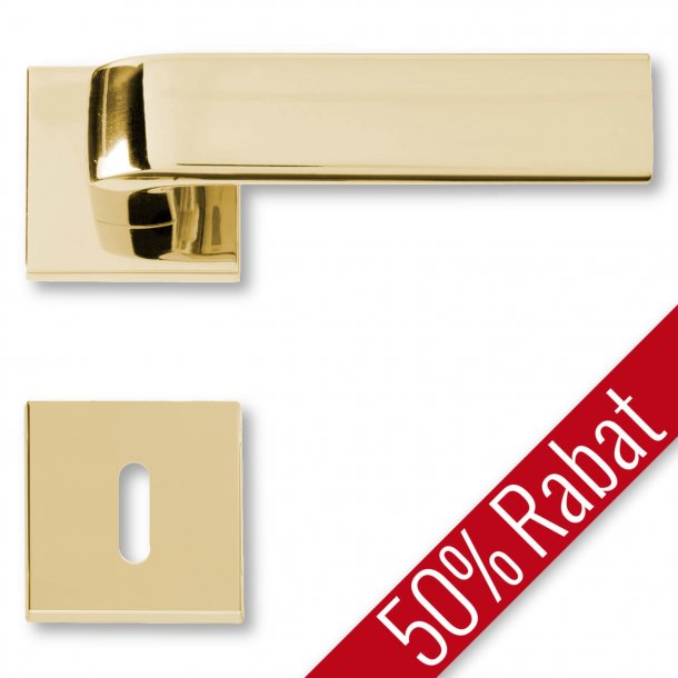 Door handle interior, Brass, rosette and escutcheon - DOROTEA - Promotional Price