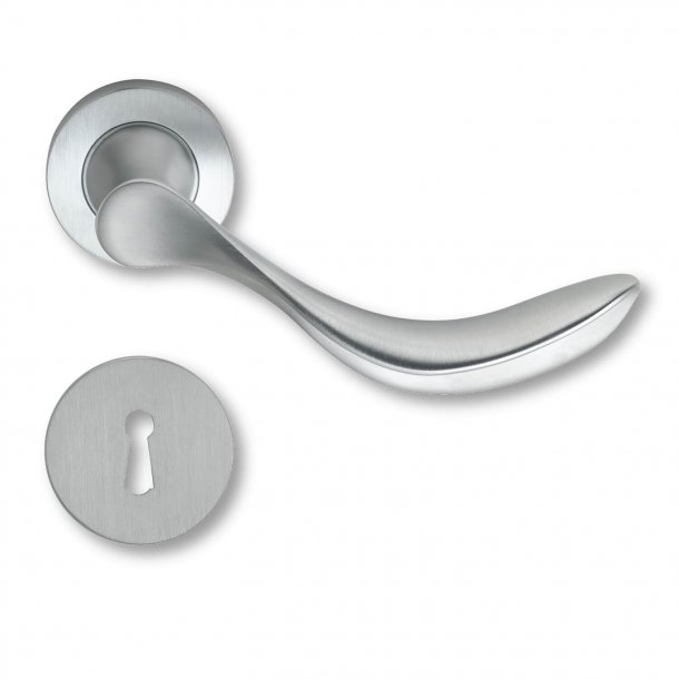 Door handle interior Mat chrome rosette and escutcheon - 1950 - C06911