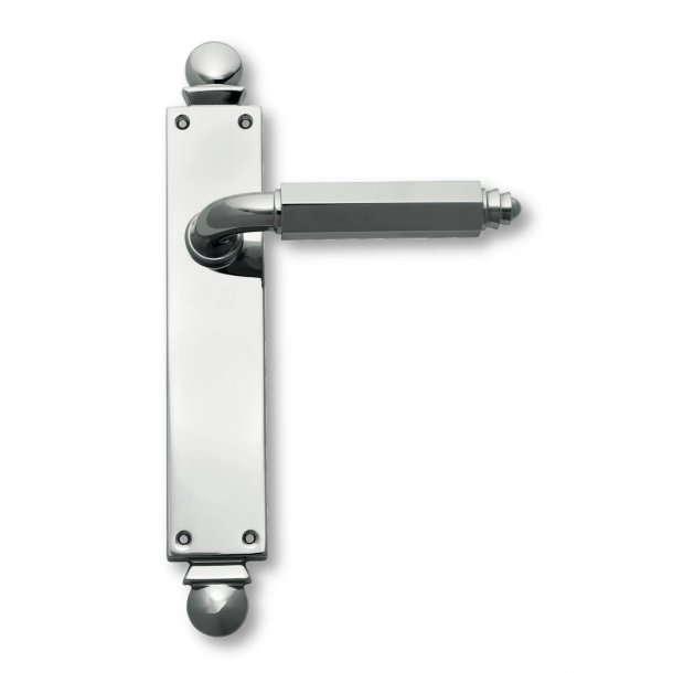 Door handle interior Chrome - Art Deco , Back plate - C09510