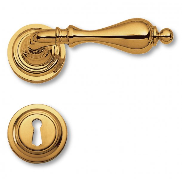 Door handle interior - Brass rosette / escutcheon - Colonial style - model C14011