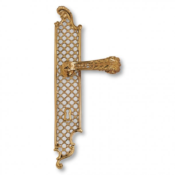 Dørgreb indendørs - Messing langskilt - Louis XVI stil - model C01810