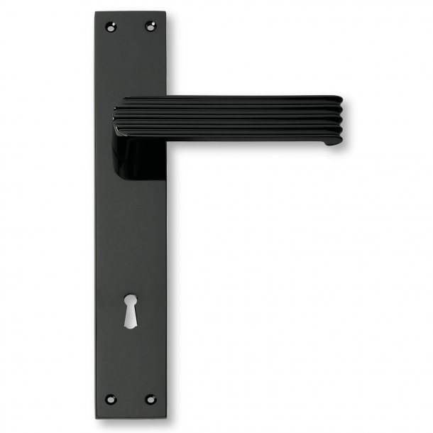 Door handle interior, Back plate Mat Black - 1930 - C02910