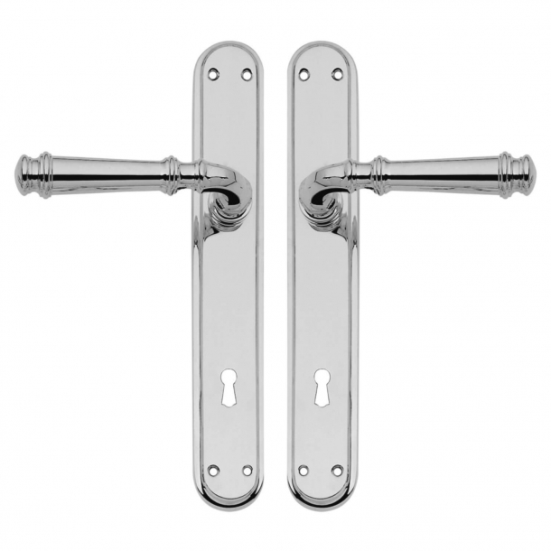 Door handle on backplate - Chrome plated - Interior - XX Century - model C13010