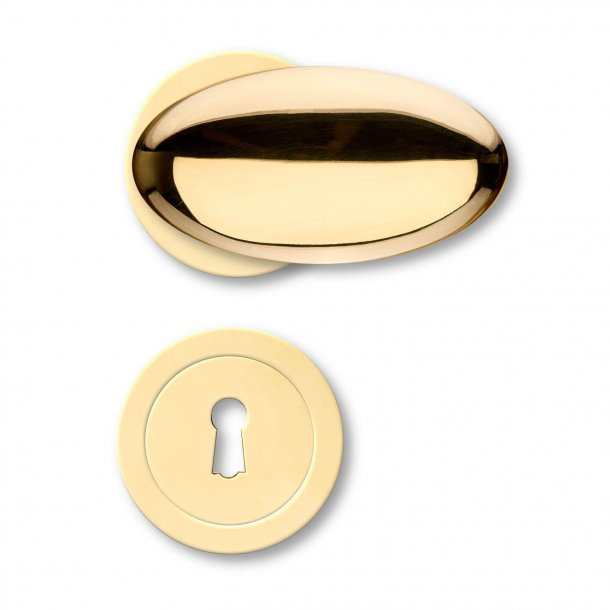 Door handle interior - Italian - Contemporary - Brass handles and escutcheon