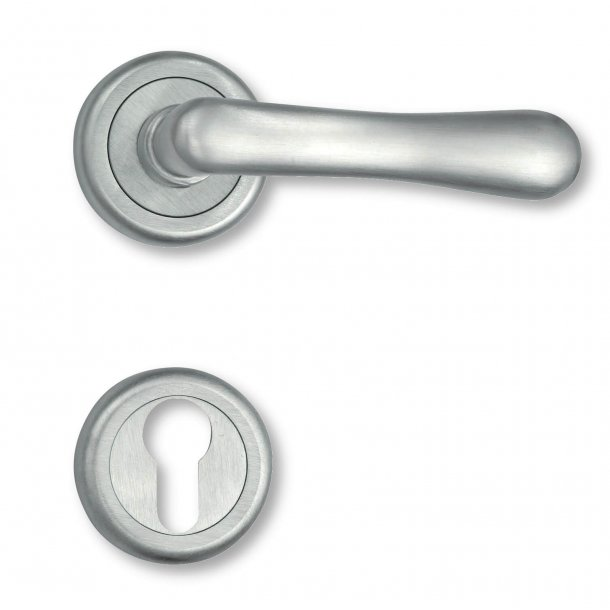 Door handle interior Matt chrome - Rosset and escutcheon - 1930 - 4801-90
