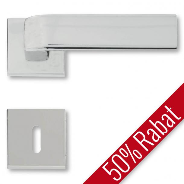 Door handle interior, Satin Chrome, rosette and escutcheon - DOROTEA - Promotional Price
