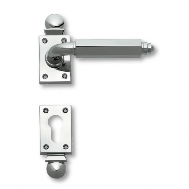 Türgriff - Innenbereich Chrom - Art Deco - Rosette / Schlüsselrosette - C09511