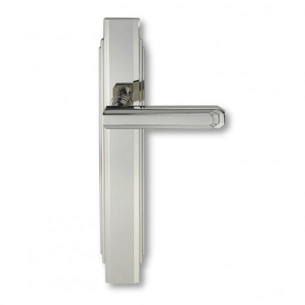 Door handle interior Nickel - Art Deco , Back plate - C17810