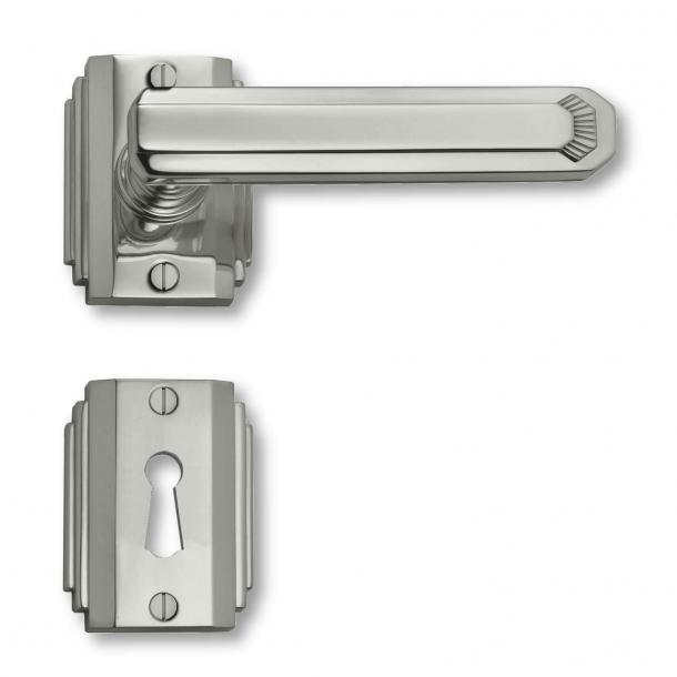 Türgriff - Innenbereich - Nickel - Art Deco - Rosette / Schlüsselrosette - C17811