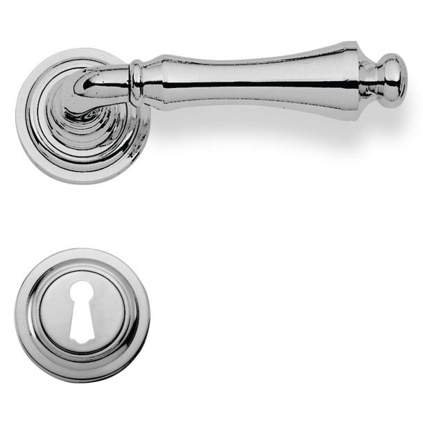 Innentürgriff - Chrom - Rosette und Schlüsselrosette - Enrico Cassina Modell C16211