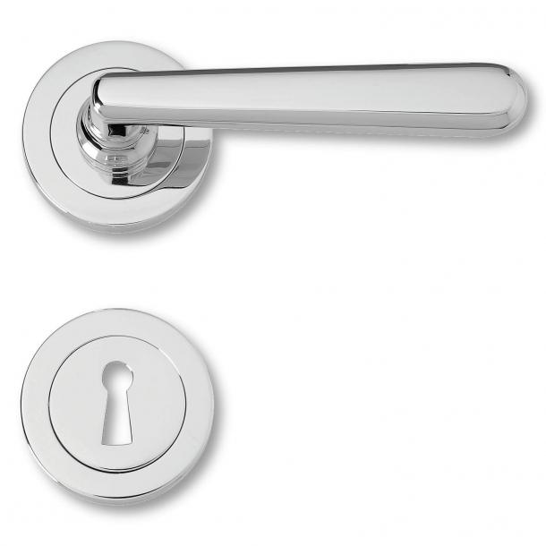 Klamka do drzwi wewnętrznych - Styl nowoczesny -  Błyszczący chrom - model 480291