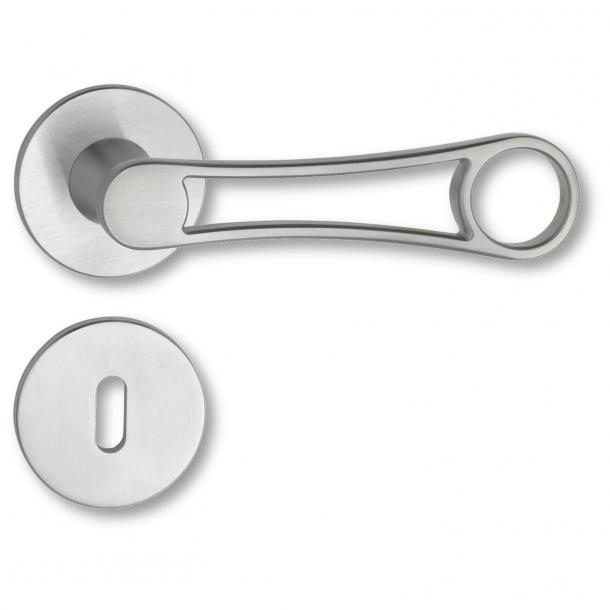 Door handle interior Rosset / Key Tag - Matt chrome - Sign Project - model C17711