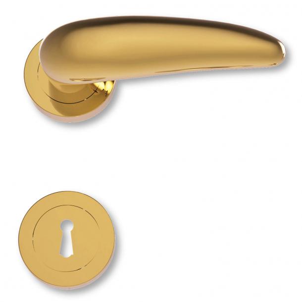 Klamka do drzwi - Mosiądz - Rozeta pod klucz - C08211Q