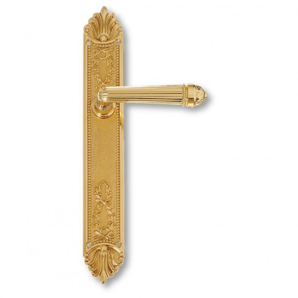Klamka do drzwi - Szyld długi - Mosiądz - Pierwsze imperium - model C09010