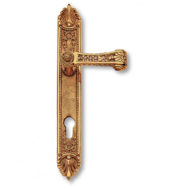 Door handle exterior, Back plate - Brass - First Empire - model C12510